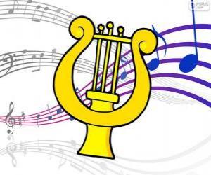 Puzle Harpa, desenho