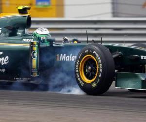Puzle Heikki Kovalainen - Lotus - Istambul 2010