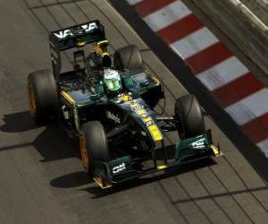Puzle Heikki Kovalainen - Lotus - Monte-Carlo 2,010