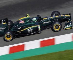 Puzle Heikki Kovalainen - Lotus - Spa-Francorchamps 2010