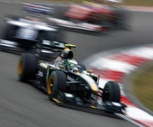 Puzle Heikki Kovalainen - Lotus - Xangai 2010
