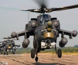 Puzle Helicóptero militar