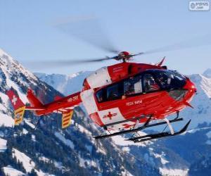 Puzle Helicóptero suíço de resgate