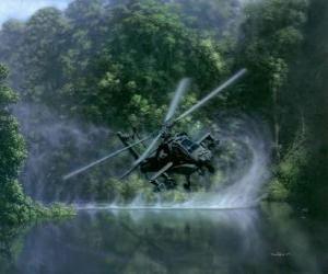 Puzle Helicoptero AH-64 Apache