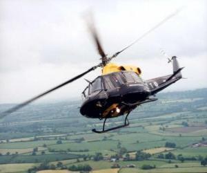Puzle Helicóptero em acção