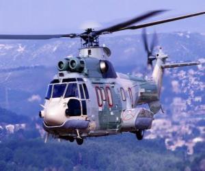 Puzle Helicóptero Grande