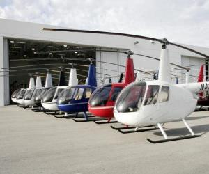 Puzle Helicópteros Light