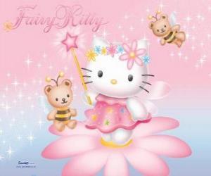Puzle Hello Kitty, a fada do jardim