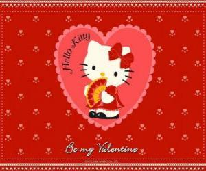 Puzle Hello Kitty com coração