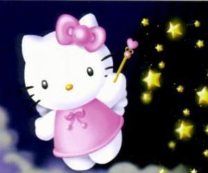 Puzle Hello Kitty é uma fada entre as estrelas