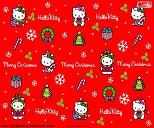 Puzle Hello Kitty no Natal