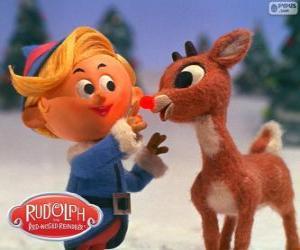 Puzle Hermey e Rudolph