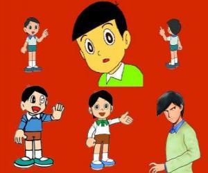 Puzle Hidetoshi Dekisugi, colega de Nobita