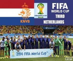 Puzle Holanda 3º classificado do Copa do mundo de futebol Brasil 2014