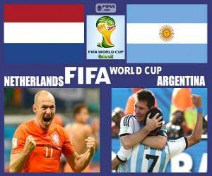 Puzle Holanda - Argentina, semi-finais, Brasil 2014