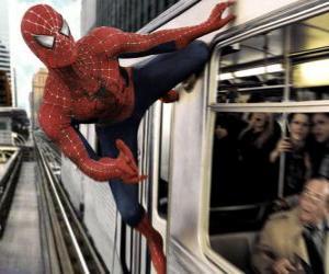 Puzle Homem Aranha em ação