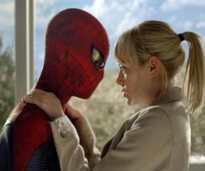 Puzle Homem-aranha ou Spider-man com Gwen Stacy