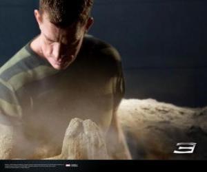 Puzle Homem-Areia, Sandman começa o processo de transformação de seu corpo