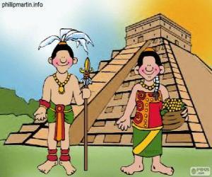 Puzle Homem e mulher maia