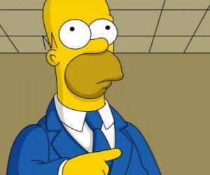 Puzle Homer Simpson muito elegante