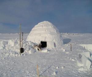 Puzle Iglu, domo casa de neve