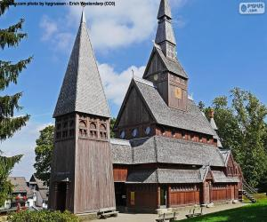 Puzle Igreja de madeira, Alemanha