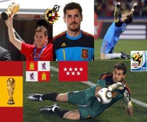 Puzle Iker Casillas (o santo de Móstoles) Seleção goleiro espanhol ou o guarda-redes