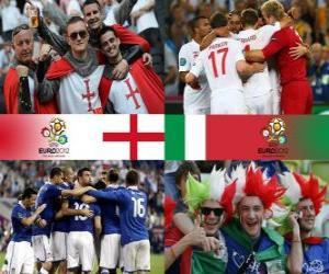 Puzle Inglaterra - Itália, quartas, Euro 2012