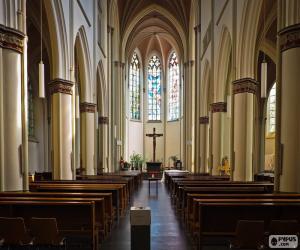 Puzle Interior da igreja