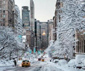 Puzle Inverno em Nova York