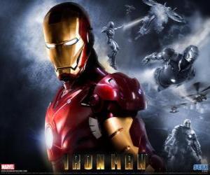 Puzle Iron Man ou Homem de Ferro tem uma armadura muito poderosa que lhe permite voar, que lhe dá força sobre-humana e armas especiais disponíveis