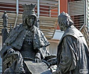 Puzle Isabel la Católica e Colombo