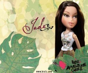 Puzle Jade: - Kool Kat - é asiática, com olhos verdes. Seu nome é Maria, representa a sabedoria.