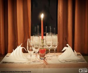 Puzle Jantar romântico