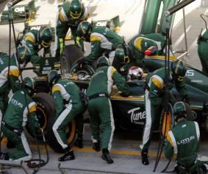 Puzle Jarno Trulli 2010 - Lotus - Bahrain