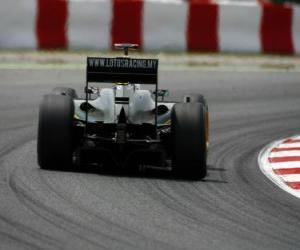 Puzle Jarno Trulli - Lotus - Barcelona 2010