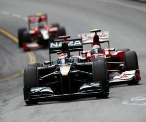 Puzle Jarno Trulli - Lotus - Monte-Carlo 2010