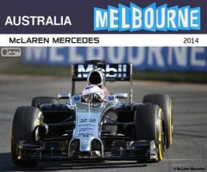 Puzle Jenson Button - McLaren - GP da Austrália 2014, 3º classificado