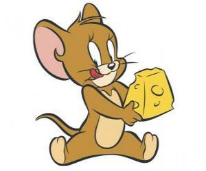 Puzle Jerry comer um delicioso pedaço de queijo