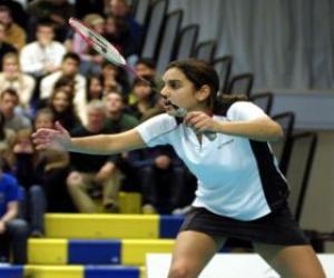 Puzle Jogadora do badminton