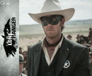 Puzle John Reid (Armie Hammer) no filme O Cavaleiro Solitário