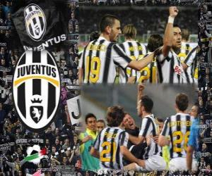 Puzle Joventus, campeão da Liga Italiana de Futebol - Lega Calcio 2011-12