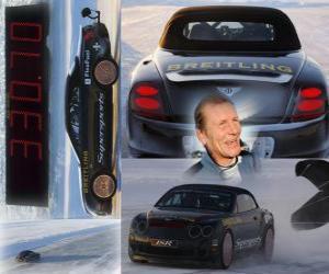 Puzle Juha Kankkunen, recorde de velocidade de gelo