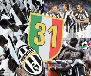Puzle Juventus Turim, campeão Serie A Lega Calcio 2012-2013, liga italiana de futebol