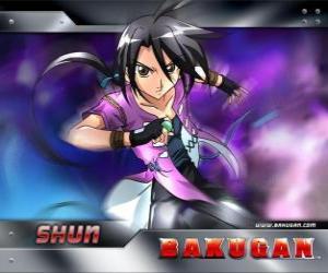 Puzle Kamazi Shun, a melhor amiga de Dan é um garoto forte e solitário