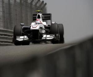 Puzle Kamui Kobayashi - BMW Sauber - Xangai 2010