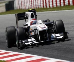 Puzle Kamui Kobayashi - BMW Sauber - Barcelona 2010