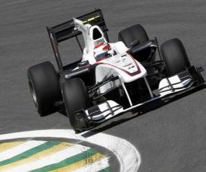 Puzle Kamui Kobayashi - Sauber - Interlagos 2010