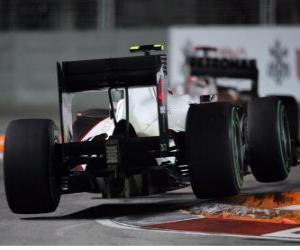 Puzle Kamui Kobayashi - Sauber - Singapore 2010