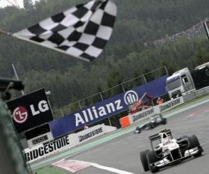 Puzle Kamui Kobayashi - Sauber - Spa-Francorchamps 2010